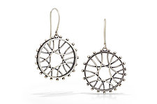 Radial Arc Earrings by Nikki Nation (Silver Earrings)