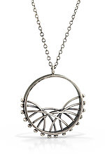 Crescent Arc Necklace by Nikki Nation (Silver Necklace)