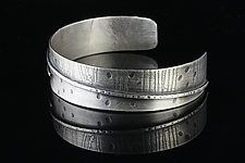 Small Etched Cuff by Linda Azar (Silver Bracelet)