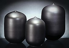 Black Set 19 by Justin Teilhet (Ceramic Vases)