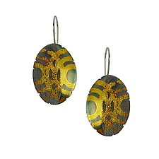 Geo Pattern Earrings by Jenny Reeves (Gold & Silver Earrings)
