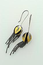 Flower Tassel Earrings by Sooyoung Kim (Gold & Silver Earrings)