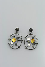 Beauty Inside Earrings by Sooyoung Kim (Gold, Silver & Stone Earrings)