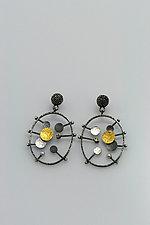 Beauty Inside Earrings by Sooyoung Kim (Gold, Silver & Stone Earrings)