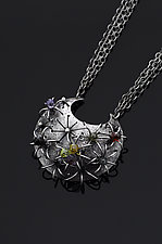 Ferocactus Necklace with Multi Stones by Sooyoung Kim (Silver & Stone Necklace)