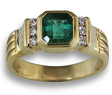 Emerald and Diamond Ring by Karina Mattei (Jewelry Rings)