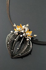 Strombo Cactus Necklace by Sooyoung Kim (Gold, Silver & Pearl Necklace)
