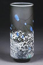Tourmaline Tapestry by Eric Bladholm (Art Glass Vessel)
