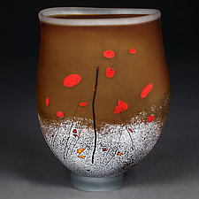 Amber Abstract by Eric Bladholm (Art Glass Vessel)