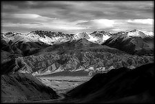Mountain Road, Kyrgyzstan by Adam Jahiel (Black & White Photograph)