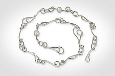 Vine Link Necklace and Bracelet by Susan Panciera (Silver & Pearl Jewelry)