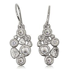 Cascading Pebbles Earrings in Palladium by Rona Fisher (Palladium & Stone Earrings)