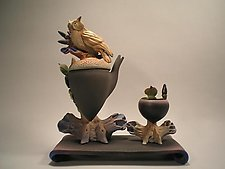 Owl Acorn Teaset by Nancy Y. Adams (Ceramic Teapot)