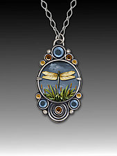 Days of Dragonflies Necklace by Dawn Estrin (Silver Necklace)