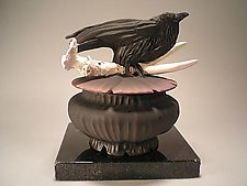 Crow Antler Box by Nancy Y. Adams (Ceramic Box)