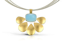 Malin Ila Pendant by Thea Izzi (Gold, Silver & Stone Necklace)
