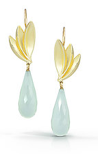 Bird of Paradise Drops in 18k by Thea Izzi (Gold & Stone Earrings)
