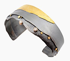 Shoreline Cuff by Sydney Lynch (Gold, Silver & Stone Bracelet)
