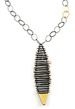 Diamond Kayak Necklace by Sydney Lynch (Gold, Silver & Stone Necklace)