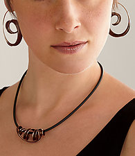 Bronze Tendril Embrace Pendant by Nancy Linkin (Gold & Bronze Necklace)