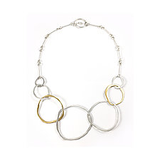 7 RC Necklace by Lisa Crowder (Gold & Silver Necklace)