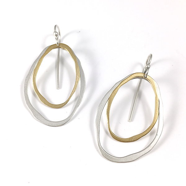 Small Two-Layer Thin RC Earrings