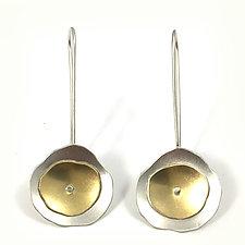 Tiny Flutter Earrings in Silver by Lisa Crowder (Gold & Silver Earrings)