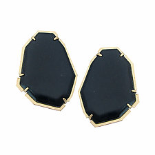 Geo Post Earrings by Lisa Crowder (Enameled Earrings)