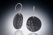 Addison Earring by Nina Mann (Gold & Steel Earrings)