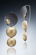 Aiyana Earring by Nina Mann (Gold & Steel Earrings)