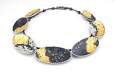 Galaxy Necklace II by So Young Park (Gold, Silver & Stone Necklace)