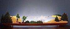 Rockbound Coast by Bernie Huebner and Lucie Boucher (Art Glass Sculpture)