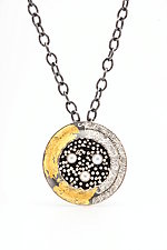 Round Beyond the Sea Necklace by So Young Park (Gold, Silver & Pearl Necklace)