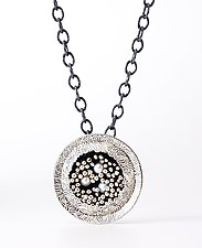 Round Beyond the Sea Necklace in Silver by So Young Park (Silver & Pearl Necklace)