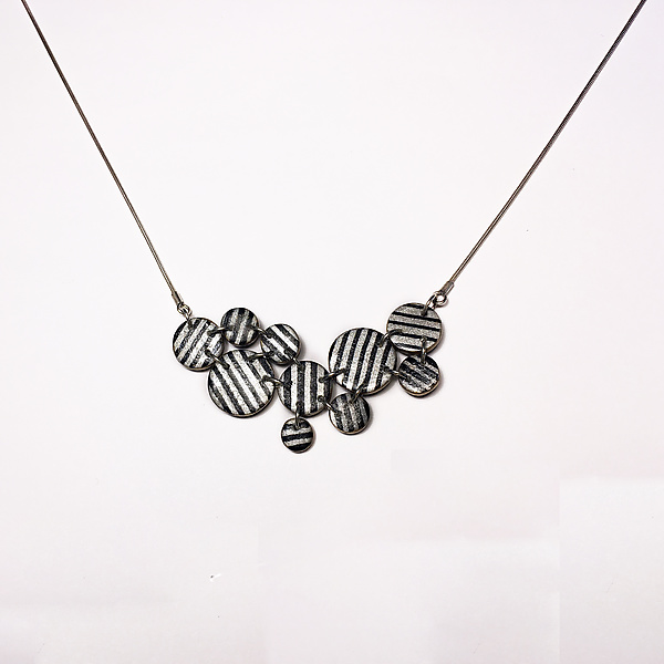 Black and Ivory Asymmetrical Necklace