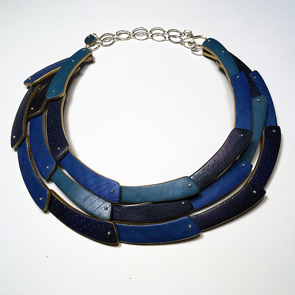 Tri Crescent Necklace in Blues