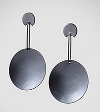 Big Round by Maja  (Silver Earrings)