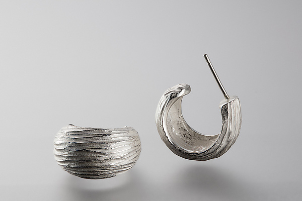 Silver Dig Earring