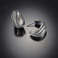 Pathway Hoop Earring by Dahlia Kanner (Silver Earrings)