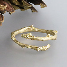Yellow Gold Twig Bypass Ring by Sarah Hood (Gold Ring)