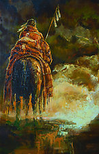 Three Feathers Before the Storm by Ritch Gaiti (Giclee Print)