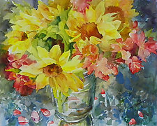 Vibrant Blooms by Terrece Beesley (Watercolor Painting)