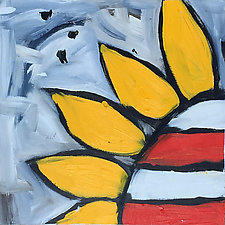 Upclose Sunflower 6 by Tracy Weil (Oil Painting)