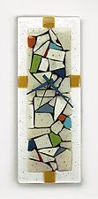 Juxtaposition Clock by Nina  Cambron (Art Glass Clock)