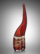 Woman in Red by Randi Solin (Art Glass Sculpture)