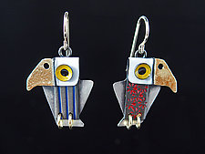 Young Americans Earrings by Lisa and Scott  Cylinder (Metal Earrings)