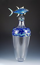 Tuna Vase by Jeremy Sinkus (Art Glass Vessel)