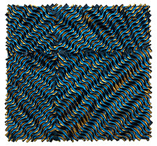 Blue Twist by Tim Harding (Fiber Wall Hanging)