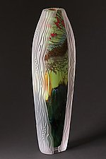 Carved Collection: Forest Series 16-FS-8 by Steven Main (Art Glass Sculpture)