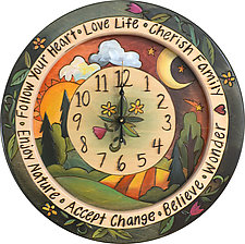 Nature Clock by Sticks  (Wood Clock)